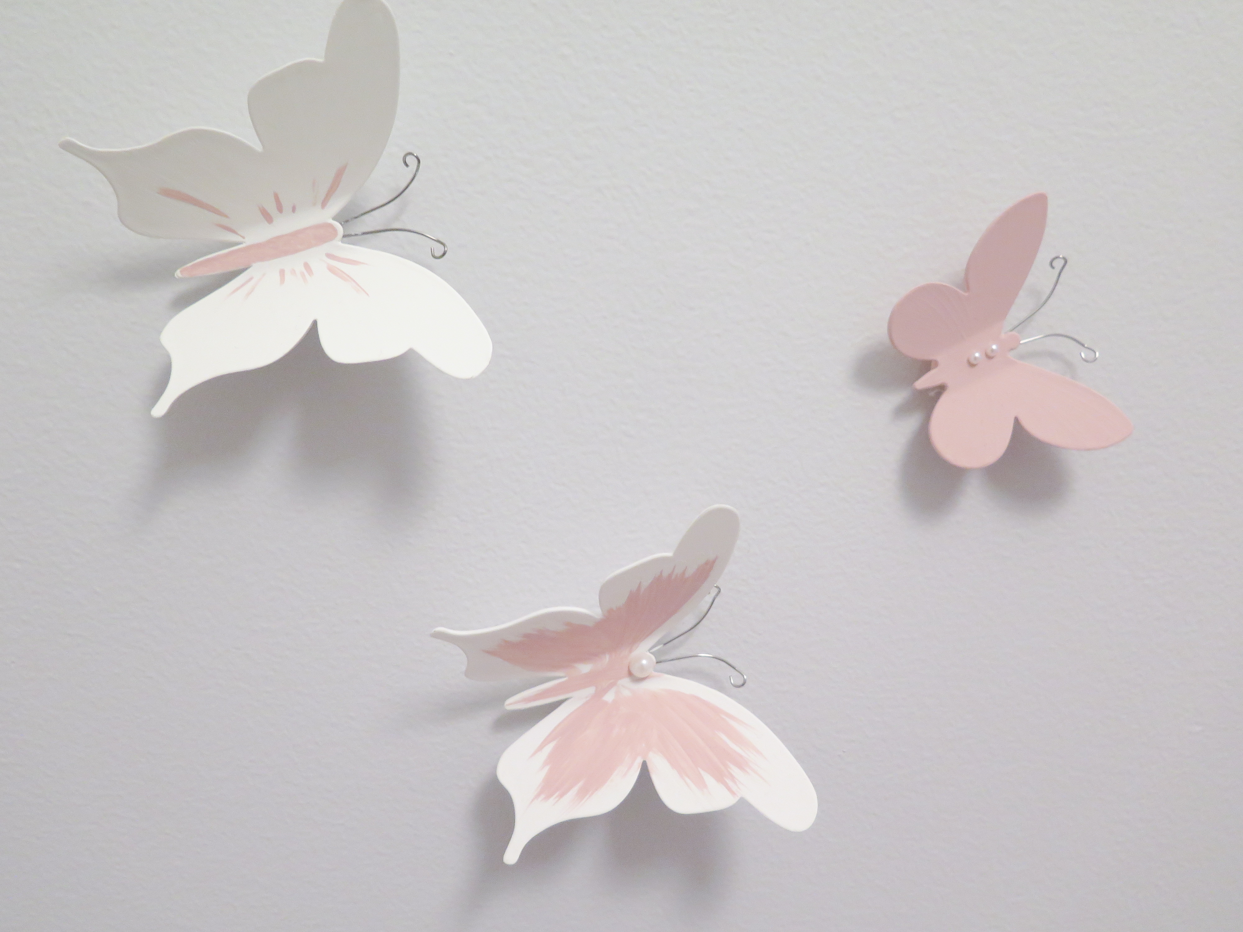 Stickers Papillons 3d rose