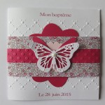 Faire-part Papillons en Liberty