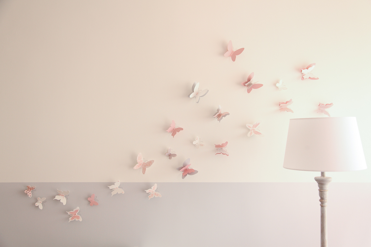 stickers chambre fille papillon